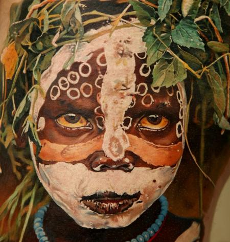 Tattoos - Mursi Tribe Girl - 63845